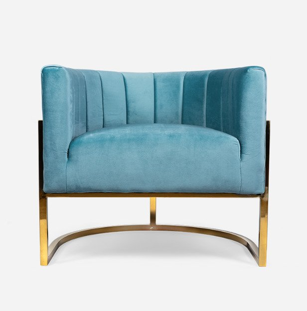 Кресло Arsino голубого цвета