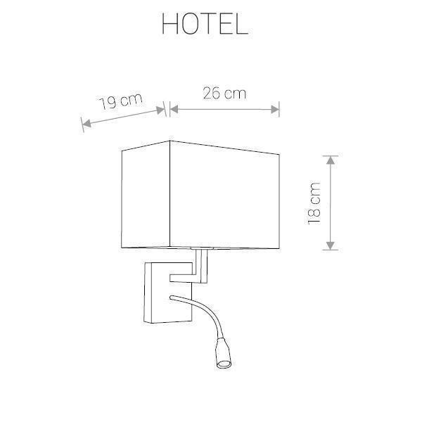 Бра Hotel с серым плафоном