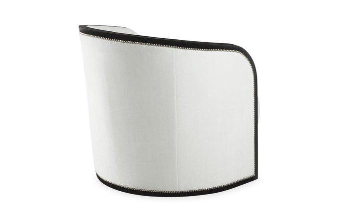 Кресло Fenton бело-черного цвета