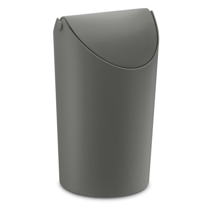 Корзина для мусора Jim тёмно-серого цвета