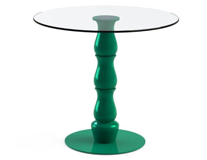 """Обеденный стол """"VESPER Green"""" со столешницей из закаленного стекла"""