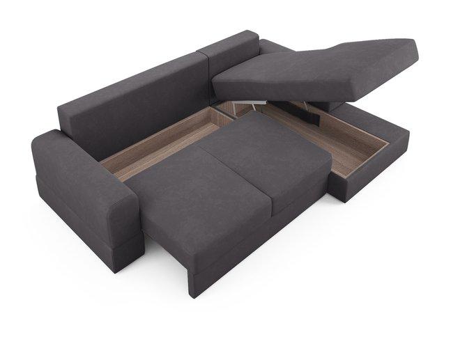 Угловой диван-кровать Elke темно-серого цвета