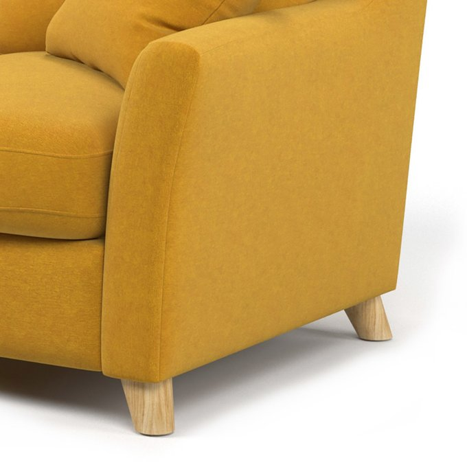 Диван-кровать Raf SF двухместный желтого цвета