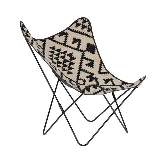 Кресло Flynn Black and white черно-белого цвета