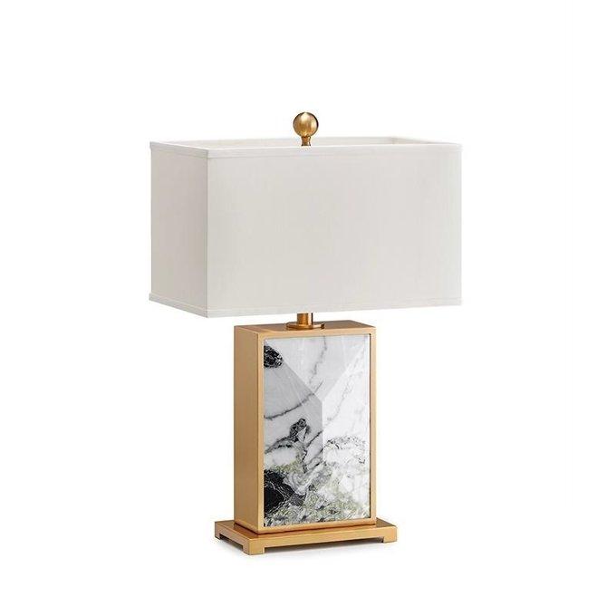 Настольная лампа Stenford с белым абажуром