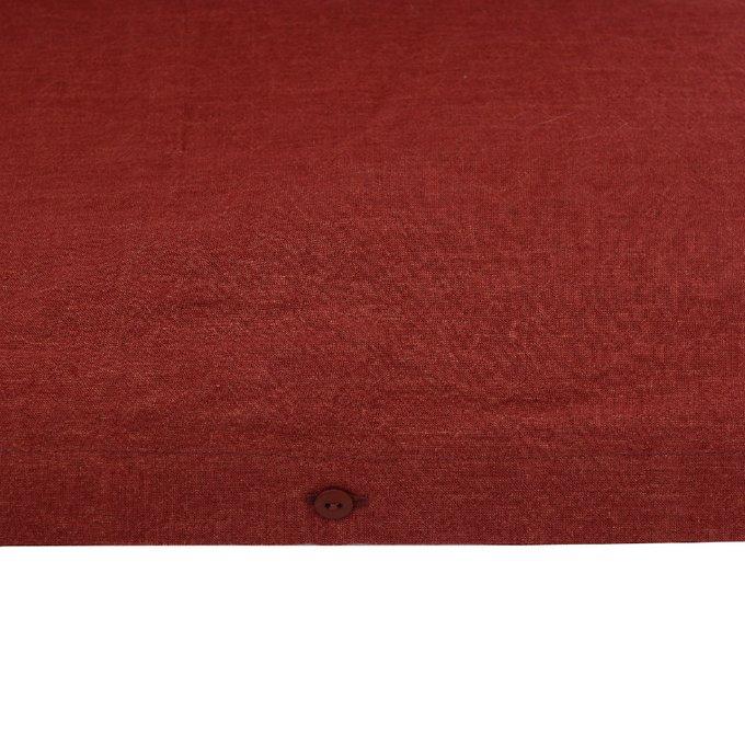 Пододеяльник изо льна бордового цвета 150x220
