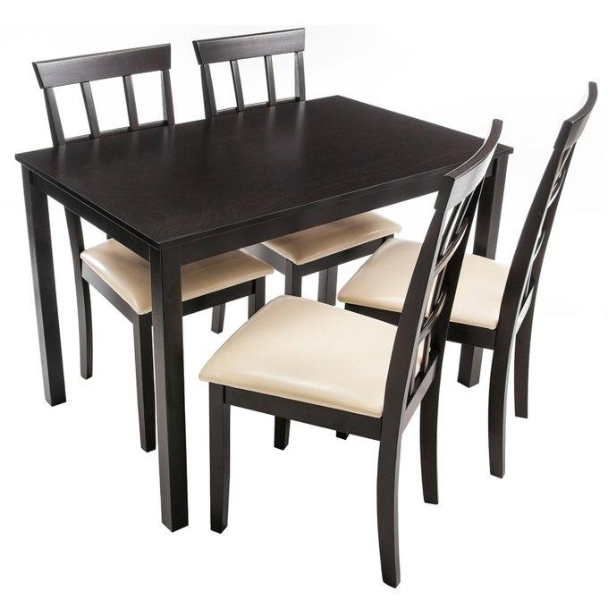 Обеденная группа Monto из стола и четырех стульев