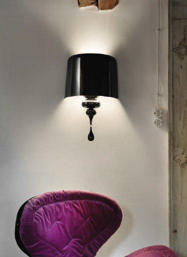 Бра Masiero с абажуром из лакированного алюминия черного цвета