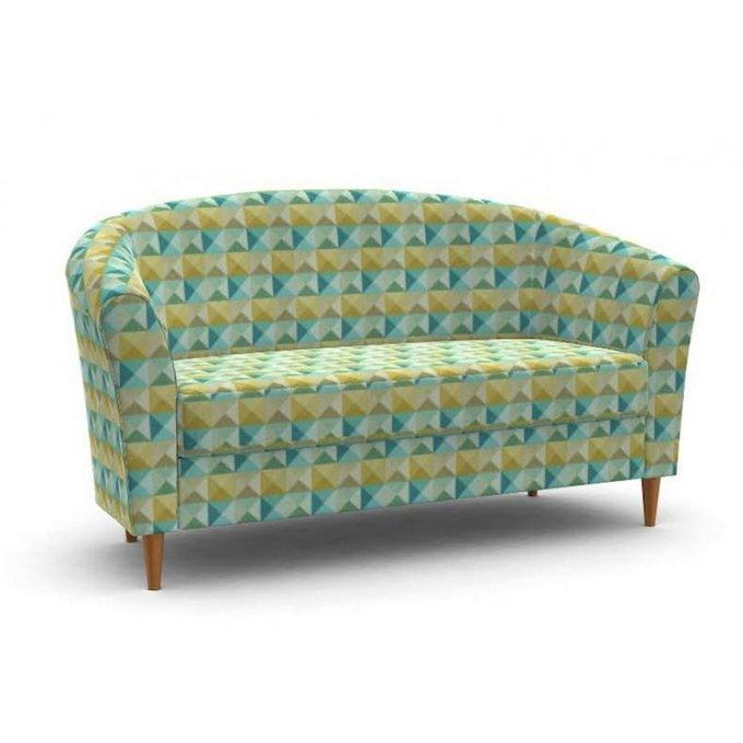 Двухместный диван Мари с зеленым принтом