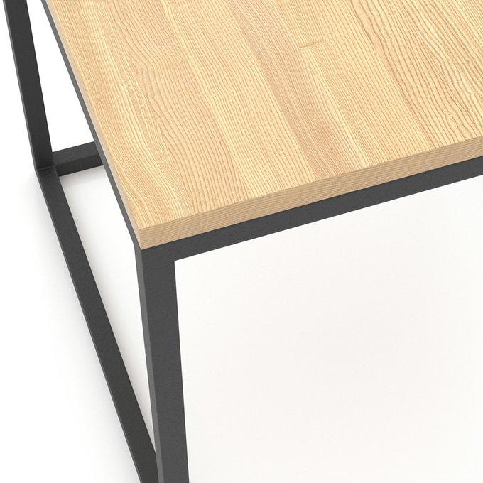 Журнальный столик Loft с черным подстольем