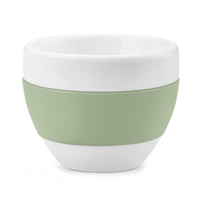 Чашка для капучино Aroma бело-зеленого цвета