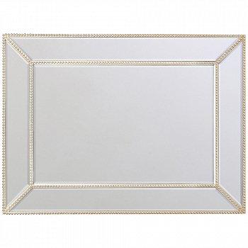 Настенное зеркало Плаза цвета матового серебра