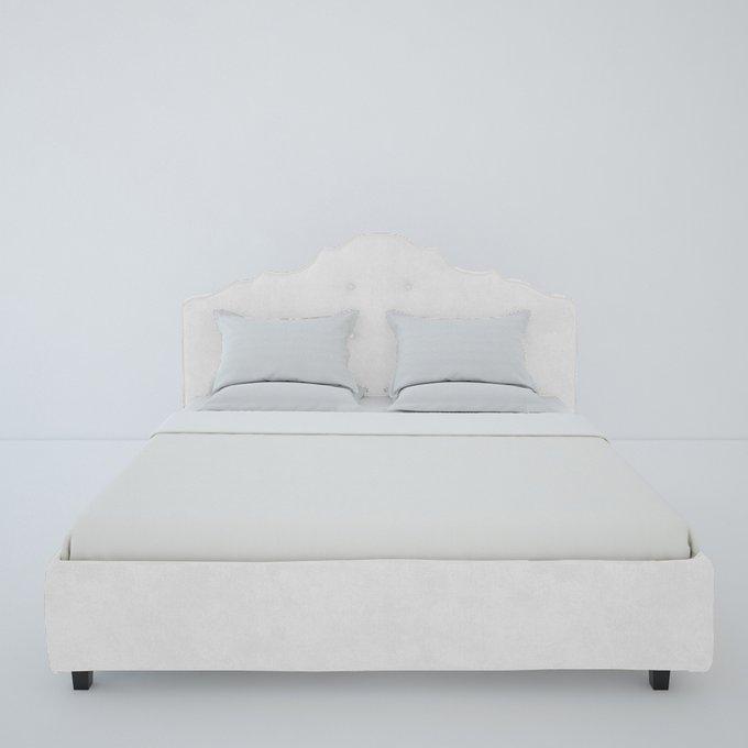 Кровать Palace Велюр Молочный 200x200