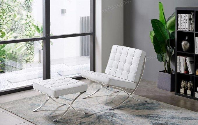 Кресло Barry с обивкой из белой экокожи