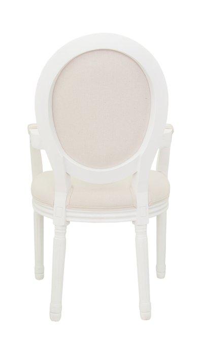 Стул Volker arm beige+white бежевого цвета