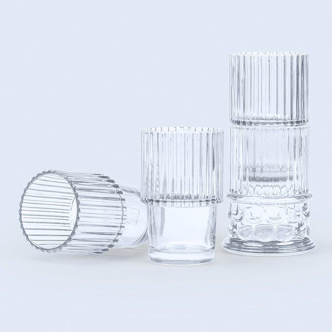 Набор из 4 стеклянных бокалов Doiy hestia прозрачный