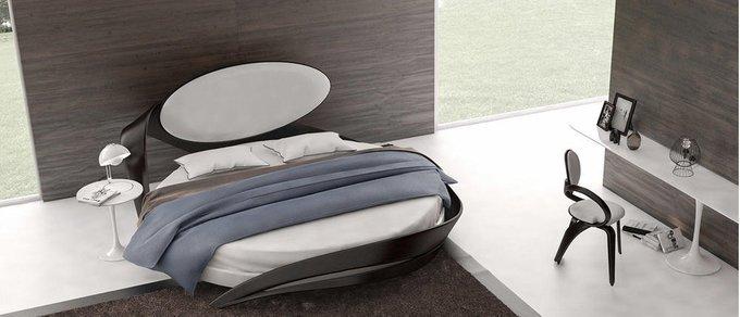 Кровать круглая Brazo бело-бежевого цвета диаметр 220