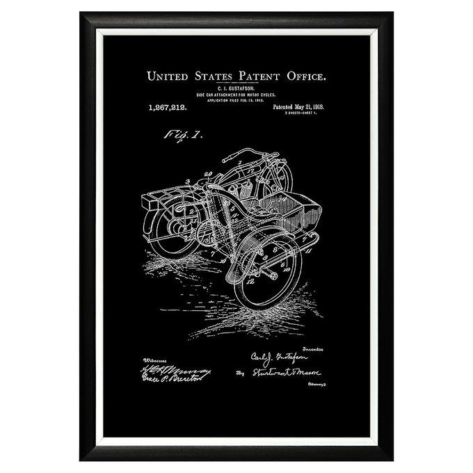 Арт-постер Патент на коляску мотоцикла 1918