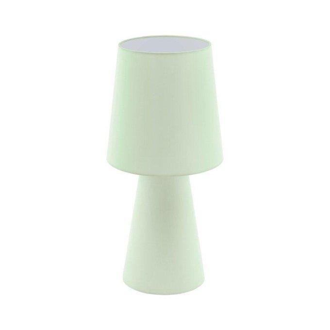 Настольная лампа Carpara зелого цвета