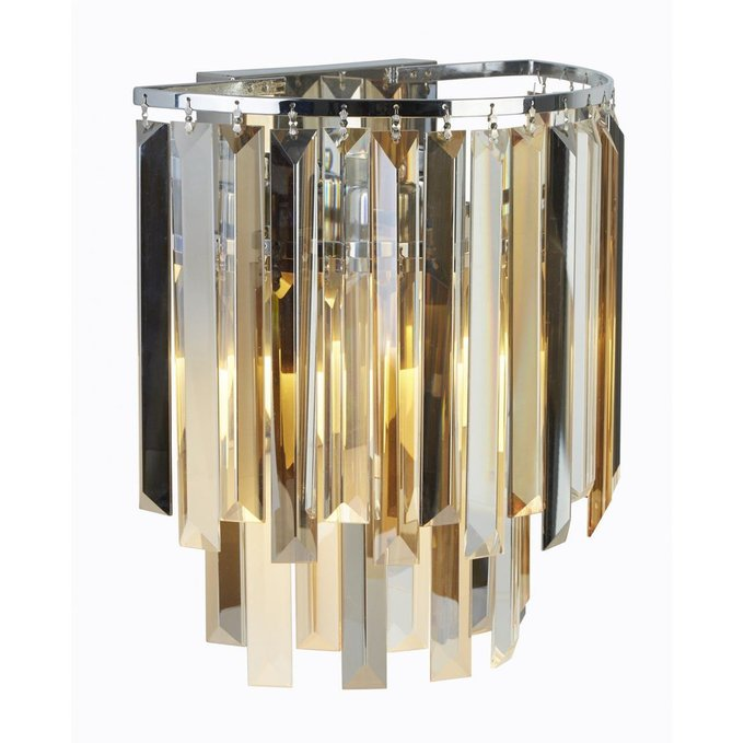 Настенный светильник с хрустальными элементами