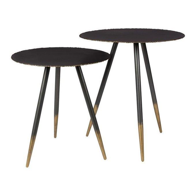 Набор из двух столов Stalwart черного цвета