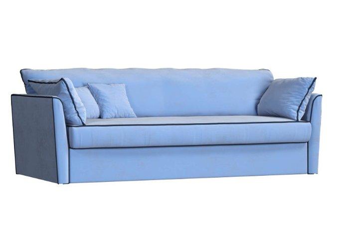 Трехместный раскладной диван Grace голубого цвета