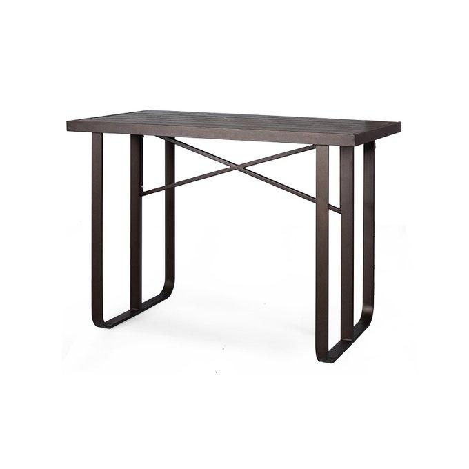 Стол барный Wicker черного цвета