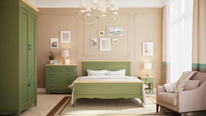 Кровать Кассис из массива бука 140х200