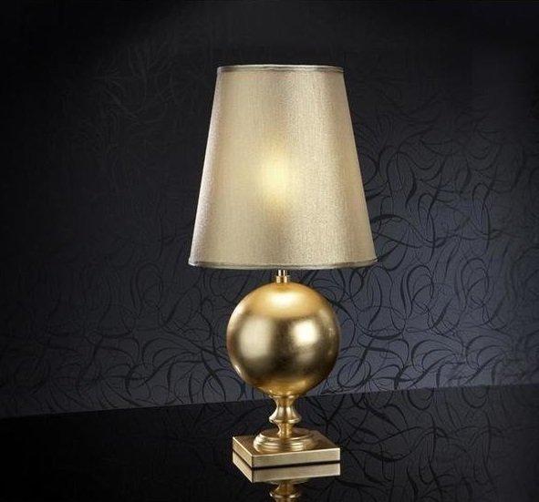 Настольная лампа Schuller Terra с золотым абажуром