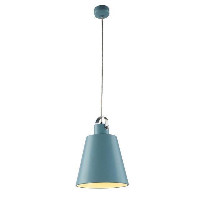 Подвесной светодиодный светильник голубого цвета