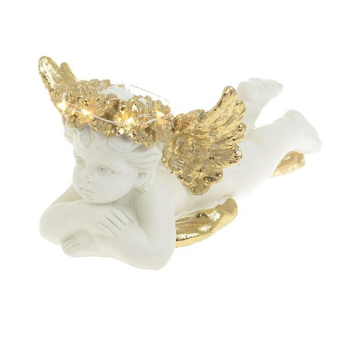 Настольный декор Ангел с золотыми крыльями