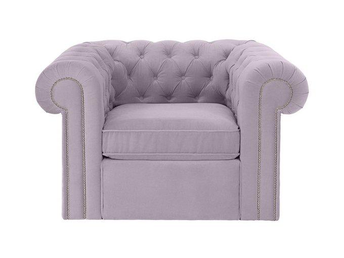 Кресло Chesterfield серо-лилового цвета