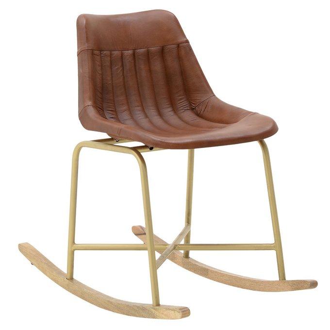 Кресло-качалка коричневого цвета