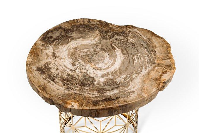 Журнальный стол Палиат из окаменелого дерева 381189