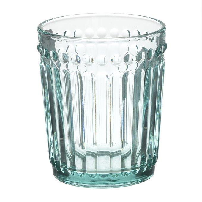 Набор из шести стеклянных бокалов бирюзового цвета