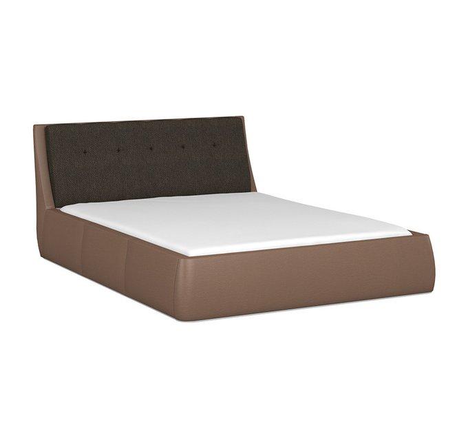 Кровать Гесиона 160х200 с черным изголовьем и подъемным механизмом