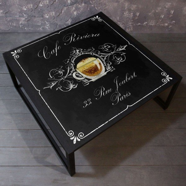 Журнальный стол Cafe со столешницей из массива сосны