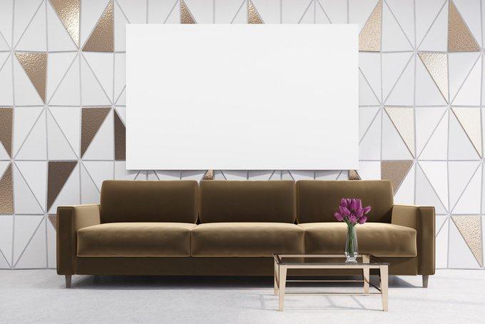 Трехместный диван-кровать Beverly коричневого цвета