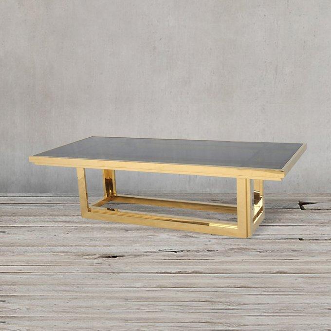 Стол кофейный цвета матового золота