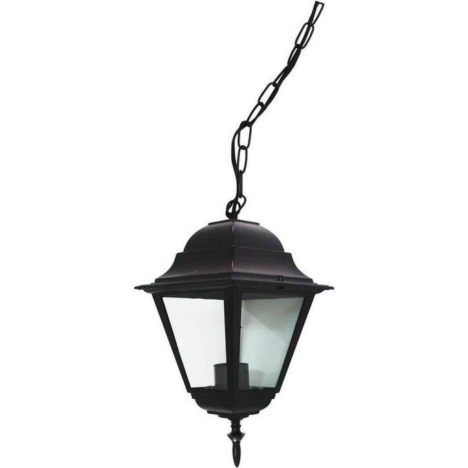 Уличный подвесной светильник черного цвета