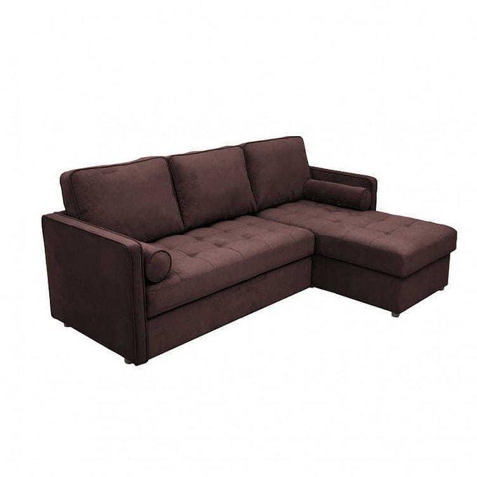 Диван-кровать угловой Лорен коричневого цвета