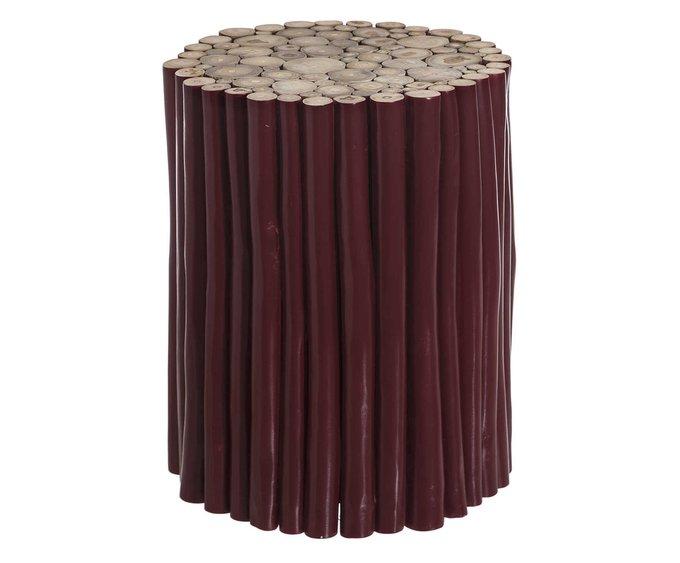 Стол кофейный бордового цвета
