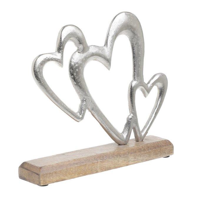 Декор настольный Сердце серебристого цвета