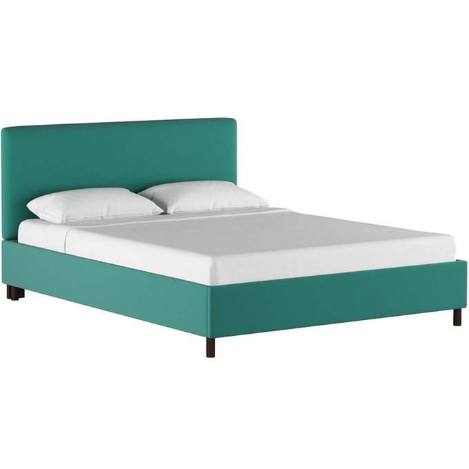 Кровать Novac Platform Teal бирюзового цвета 160х200