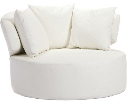 Кресло Beverly белого цвета