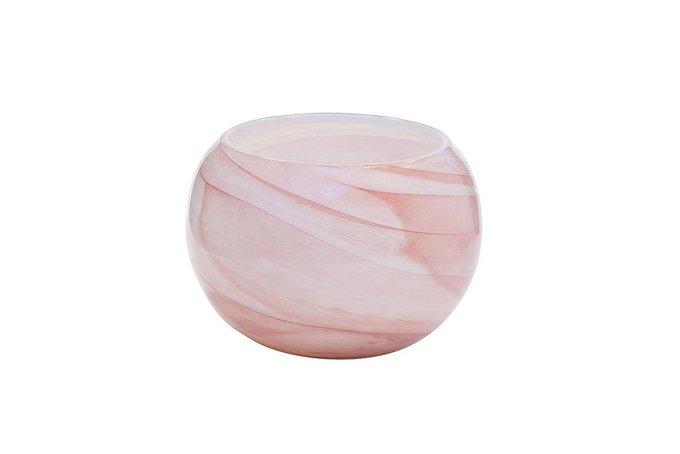 Ваза стеклянная розовая