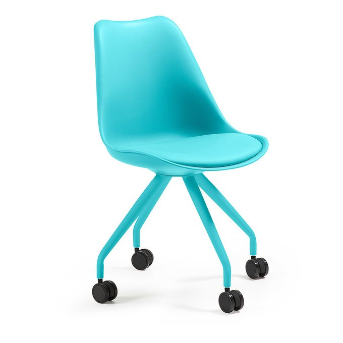 Кресло на колесиках Julia Grup Lars (голубой)