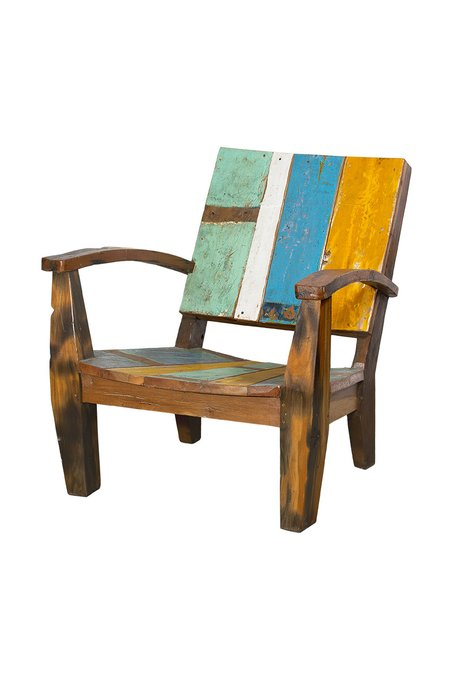 Кресло Ньютон желто-голубого цвета