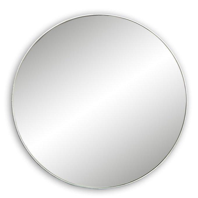 Зеркало настенное Орбита в серебряной раме