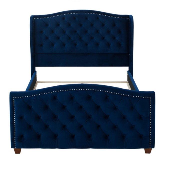 Кровать Marcella темно-синего цвета 160х200